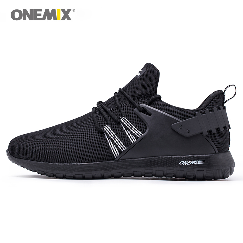 Onemix Breathable Mesh Running Shoes For Men Sports Sneakers For Women Lightweight Sneakers For Outdoor Walking Trekking Shoes onemix 2016 men s running shoes breathable weaving walking shoes outdoor candy color lazy womens shoes free shipping 1101