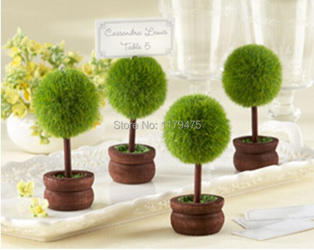 10 X PROMOTION! High Quality Green Potted Plants Place Card Holders ...