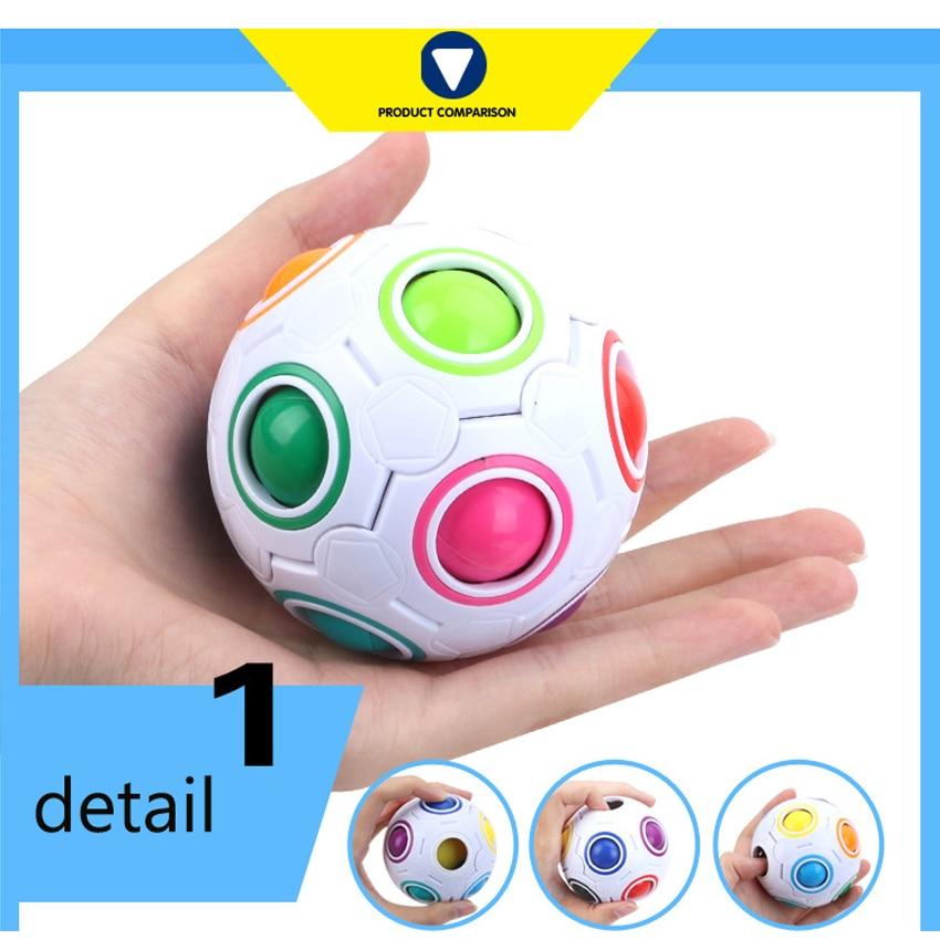Magic rainbow ball Creative Spherical Magic Cube Rainbow Puzzles Kids Educational Toys for Children Gift magic Cube ball