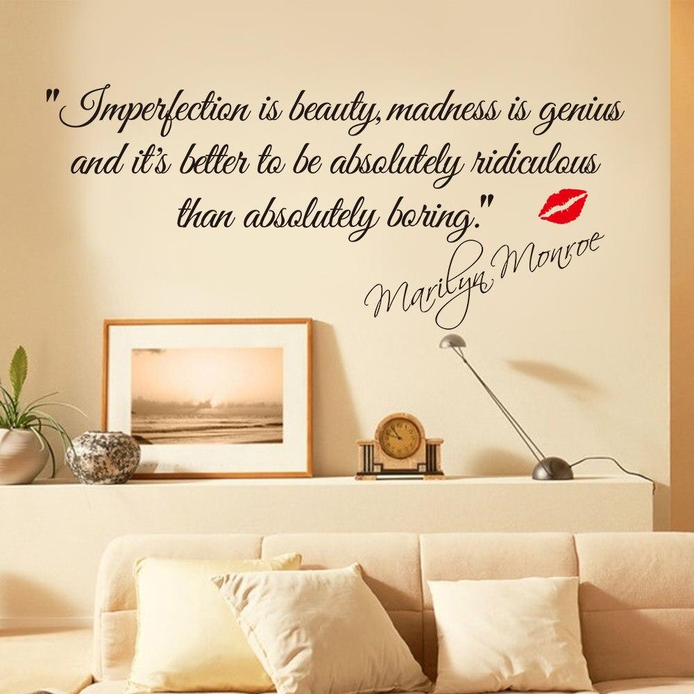 Representa O Cita Es De Beleza Marilyn Monroe Art Adesivos De  -> Adesivo Parede Sala Estar