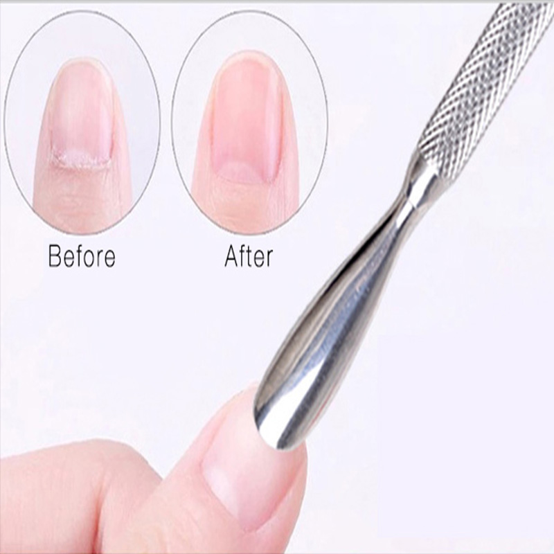 Double Head Nail Cuticle Pusher XL Big Nail Art Tools Stainless ...