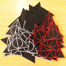 DIY Hook Loop Patch Embroidered Patches For Clothing Boys Deathly Hallows Patch Iron on Patches On Clothes Stripes Applique
