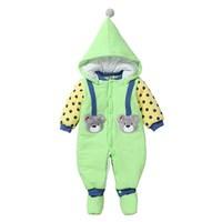 Kids Manteau Bebe Nieuwe Katoenen Jas & Winter Pyjama Baby Meisje Jumpsuit Baby Pasgeboren Capuchon Jas Jongens Warme Clown Sneeuw jassen