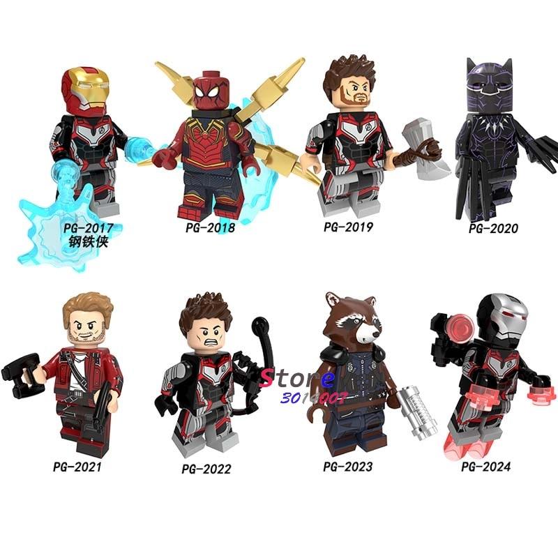 50pcs Avengers Endgame Thor IronMan SpiderMan Hawkeye Star Lord War Machine Black Panther building block for
