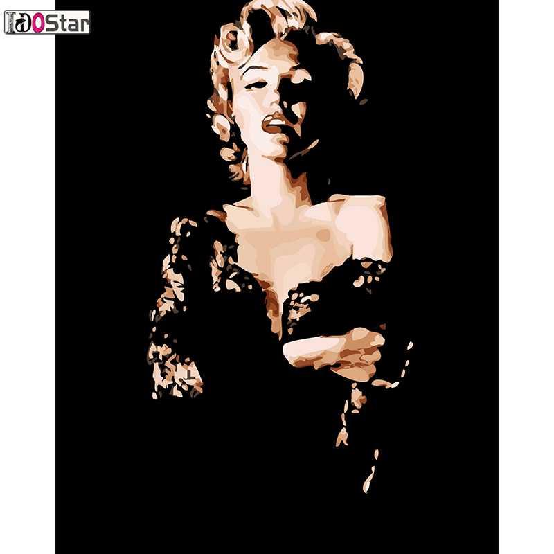 مارلين مونرو ، مثير آلهة ، نجمة البوب ، مجردة دهان داي بواسطة أرقام الاكريليك الطلاء على قماش الرسم فريد هدية على جدار