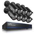 Sannce 2mp 8ch 1080 p hd dvr ir ao ar livre sistema de câmera de segurança de vigilância em casa