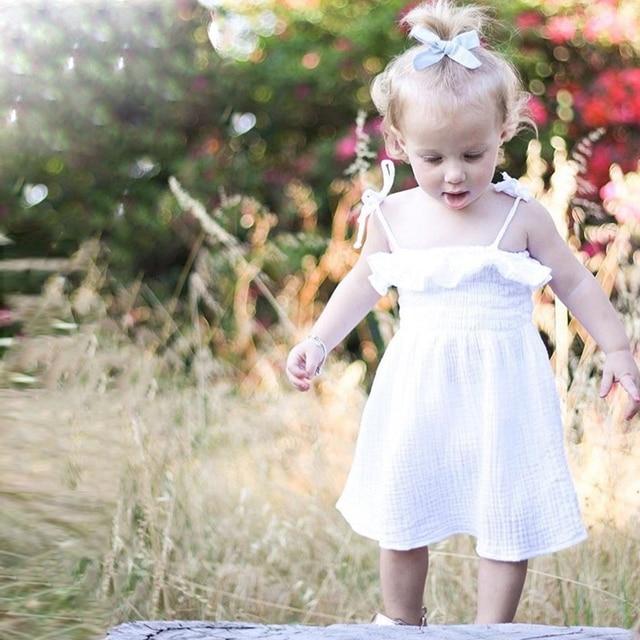 KAVKAS Summer Baby Girl Off-Shoulder Sling Beach Cute