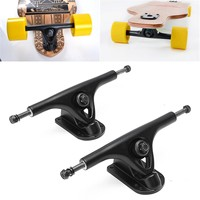 2Pcs Professional Universal Longboard Trucks Skateboard Truck Hollow With Absorber Electrical Skateboard Parts Magnalium Skate