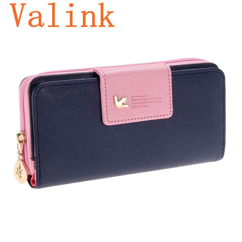 2016 Women Wallets New Fashion Trends Pumping Multi-card Position Two Fold Wallet lady Long Zipper Purse Card Holder lady Clutch