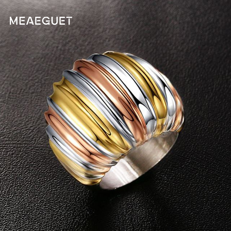 Meaeguet Classic Three-layer Color Stainless Steel Wedding s