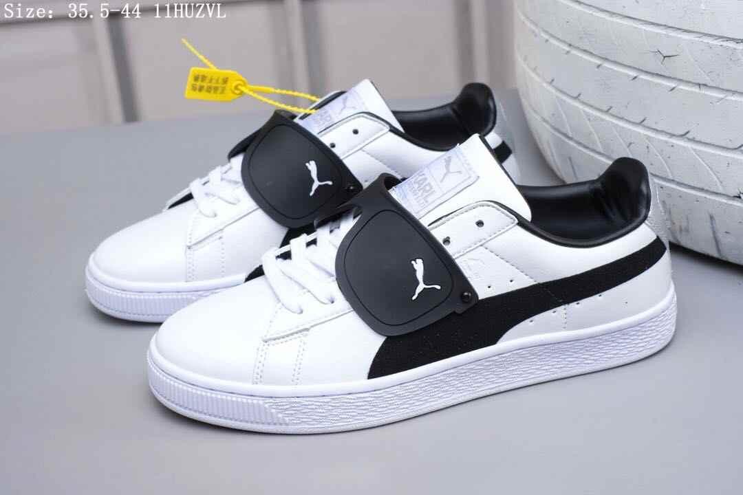988b2f7b2f5f Original Puma Unisex Shoes Sunglasses Leisure Leather Skate Shoes Lace-up  White Sport Trainers Big