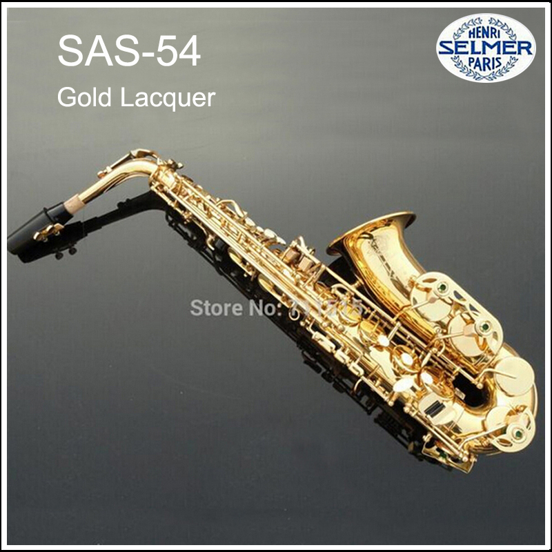 Hot Sale Saxophone Alto Selmer Eb boquilha Saxophone R54 Mouthpiece Alto Sax Electrophoresis Professional Music Instrument Brass free shipping france henri selmer saxophone alto 802 musical instrument alto sax gold curved saxfone mouthpiece electrophoresis