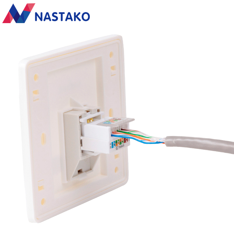 Us 6 79 15 Off Rj45 Cat5 Keystone Jacks Utp Cat5e Keystone Female Jack Connector Adapter Tool Less For Wall Plate Rj45 Network Ethernet Cable Cat5