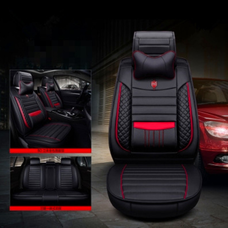 LCRTDS ensemble complet housses de siège de voiture pour mitsubishi lancer 9 10 x ix outlander 3 xl de 2010 2009 2008 2007