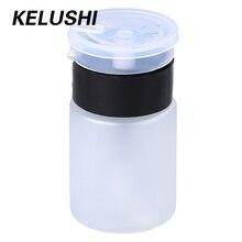 KELUSHI botella dispensadora de Alcohol líquido, removedor de esmalte de uñas de plástico blanco, 10 Uds., 60mL, tapón de bomba a prueba de fugas