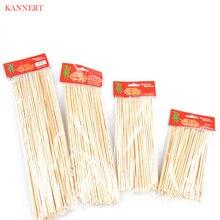KANNERT 1 упаковка принадлежности для барбекю бамбуковые шампуры для гриля Shish Kabob деревянные палочки Инструменты для барбекю