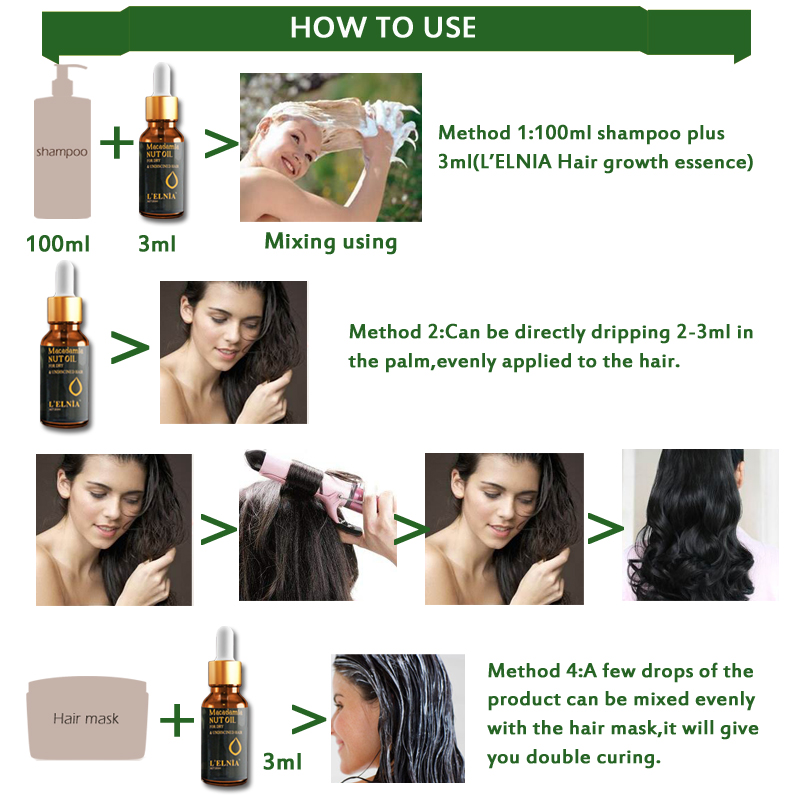 Argan Oil Hair Care Treatment Essence Fast Powerful Hair Growth Liquid Hair Loss Products Serum Repair Hair Keratine Herbal 20ml 4