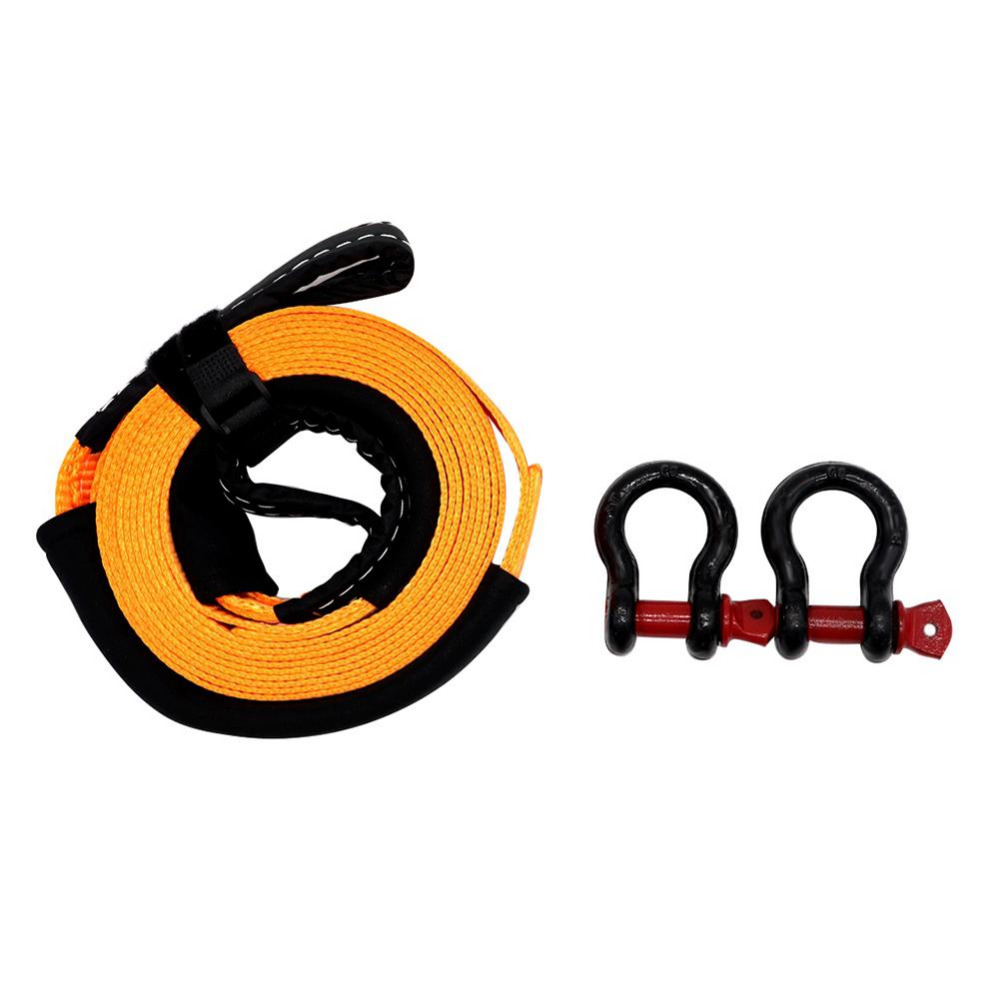 VODOOL 5m 5 Tons Heavy Duty Car Road Recovery Tow Strap Towing Rope with 2 Tow Hooks Car Towing Ropes Uniform force