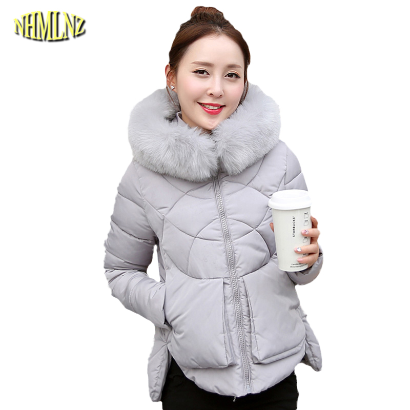Winter cotton Coat women short section Slim Long sleeve Fashion Solid color Hooded Fall 2017 fashion Women cotton jacket WK048 frank buytendijk dealing with dilemmas where business analytics fall short