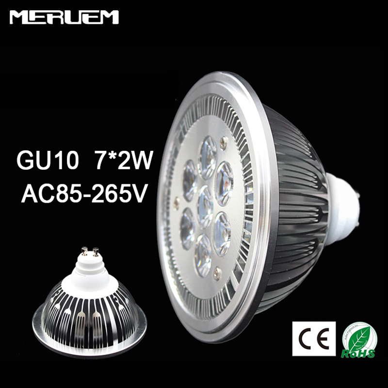 Free Shipping 10pcs lot GU10 ES111 QR111 AR111 LED lamp 14W Spotlights Warm White Nature White