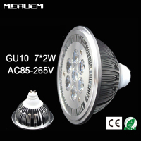 Free Shipping 10pcs Lot GU10 ES111 QR111 AR111 LED Lamp 14W Spotlights Warm White Nature White