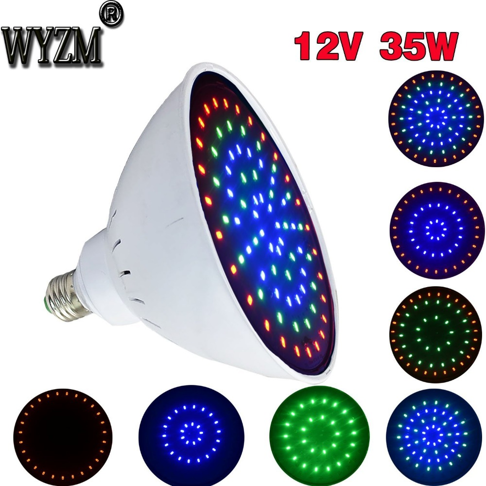 12V/35W Color Change Swimming Pool LED Lights For Pentair Hayward Fixture E27 Base Best Led Pool Lamps Shipping From USA ac120v e27 20w white warm white swimming led pool lights underwater lights for pentair hayward light fixture energy saving 95