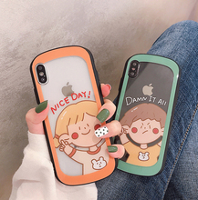VZD Cute Cartoon Girl Phone Case for iPhone XS Max XR XS X 6 6S 7 8 Plus Soft TPU Transparent Protective Phone Back Cover Cases cute cartoon bee style protective tpu back case for iphone 5 yellow black white