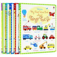 5 livros/set Placa Inglês Picture Book Usborne Livro Aprenda A Minha Primeira Palavra Livro Dicionário de Inglês Do Bebê e Crianças educação precoce