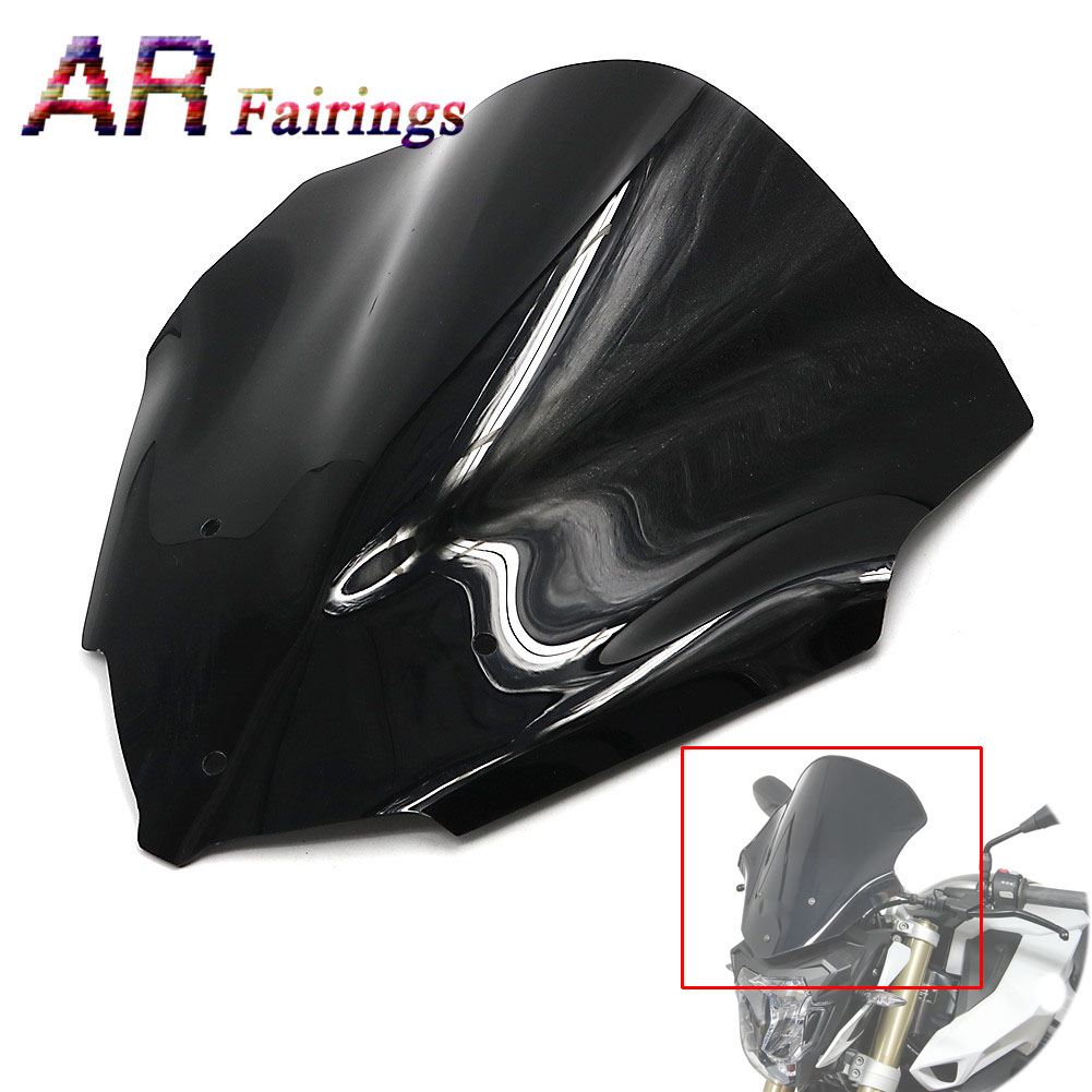 2015-2017 For BMW F800R Motorcycle Double Bubble Windshield Windscreen Wind Deflectors ABS Plastic Glass F 800R 2015 2016 2017