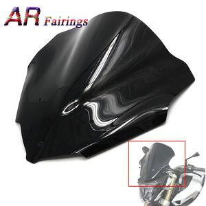 2015-2017 For BMW F800R Motorcycle Double Bubble Windshield Windscreen Wind Deflectors ABS Plastic Glass F 800R 2015 2016 2017(China)