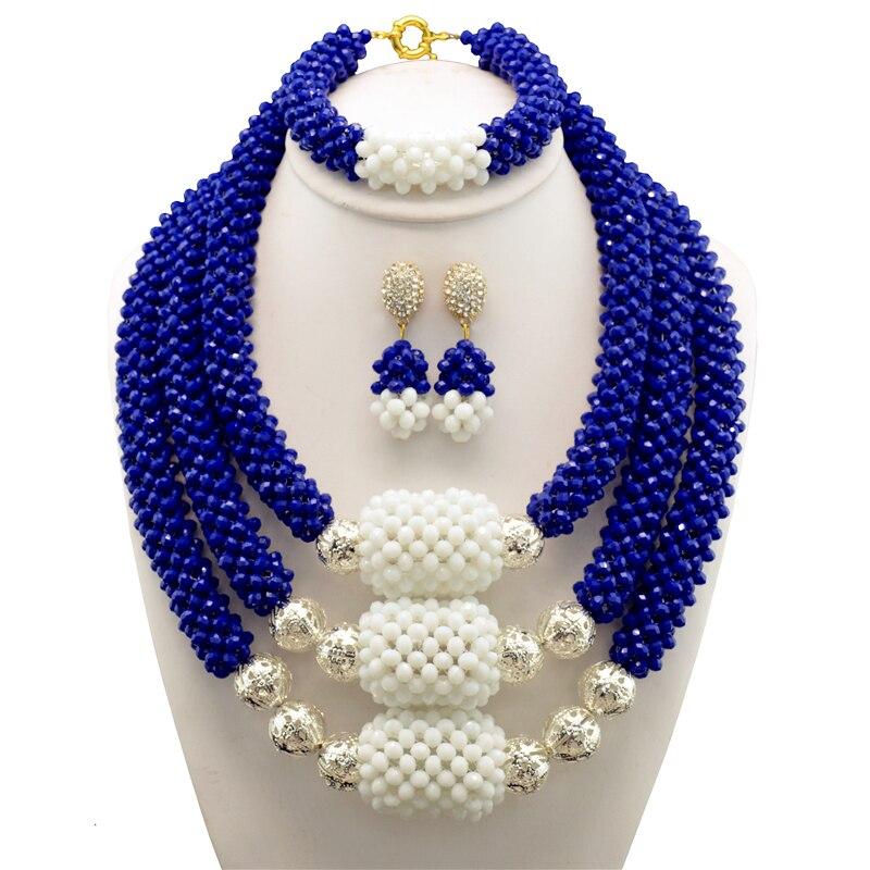 Crystal Costume African Jewelry Sets Chunky Nigerian Beads Wedding Jewelry Set Bridal Statement Jewelry Set Free Shipping цена