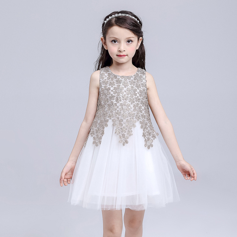 2016 New summer big girls clothing European style lace girls dresses 3-12T child ball gown for girls solid princess dress girls acthink 2017 new girls formal solid lace dress shirt brand princess style long sleeve t shirts for girls children clothing mc029