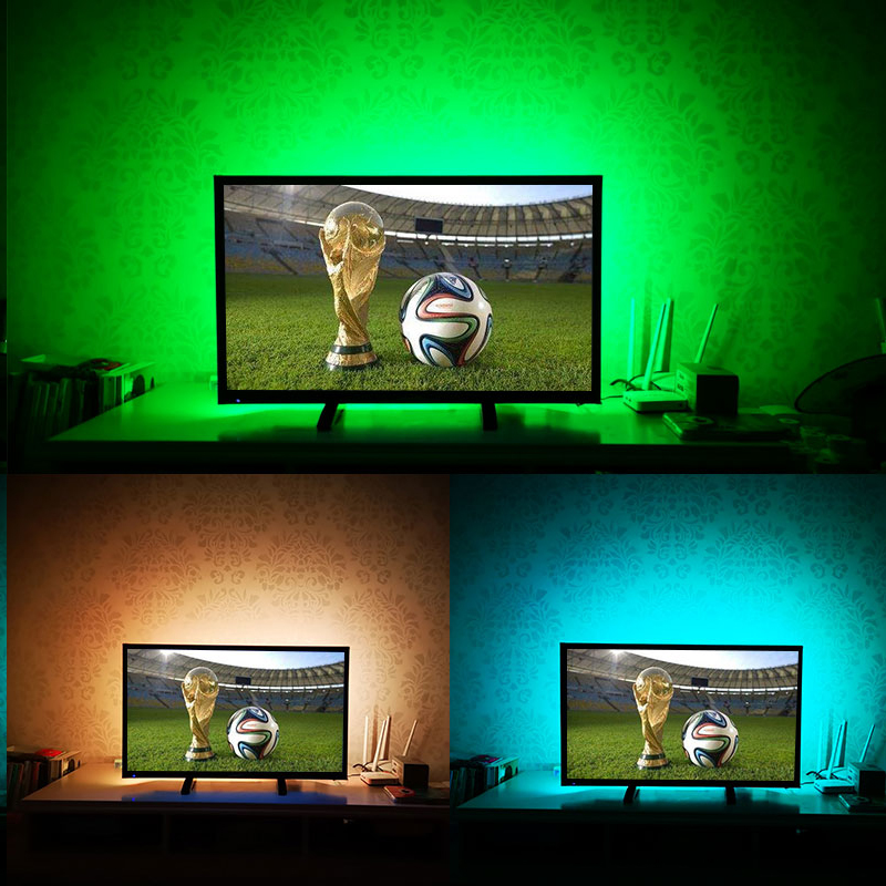 USB Cable Power Supply 5V USB LED Strip SMD2835 Christmas Light TV LED Backlight NOT Waterproof String Lamp RGB/Warm White/White