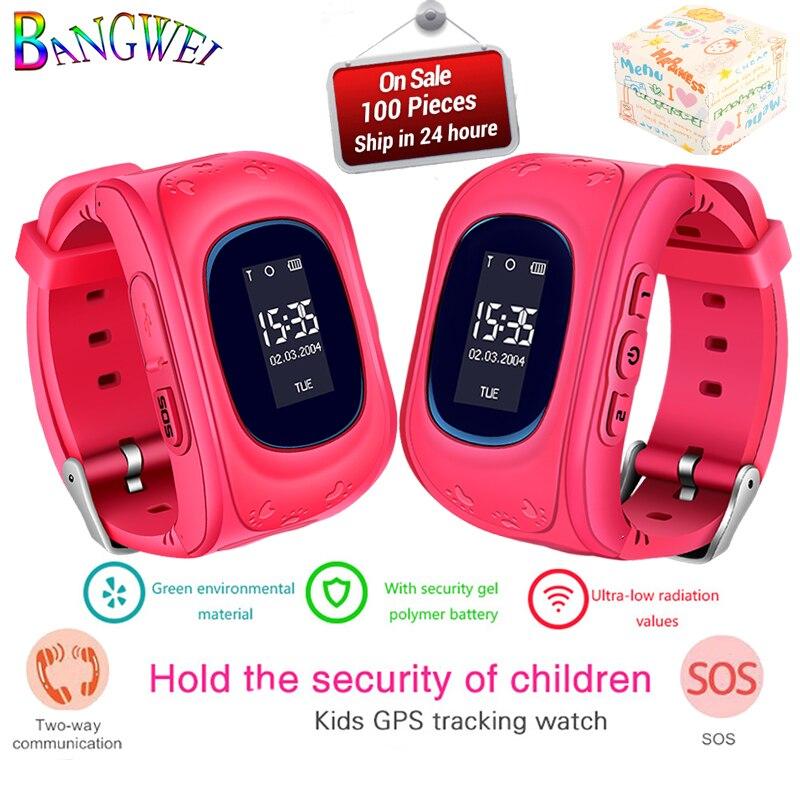 BANGWEI 2018 Nouveaux Enfants Montres SOS Prévention De La Perte De Sécurité Enfant GPS Montre Intelligente Surveillance À Distance SmartWatch Relogio infantil