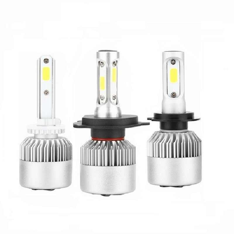 ANBLUB 880 H1 H3 H7 H11 9005/HB3 9006/HB4 H4 LED Car Headlight Bulbs 72W 6000K S2 COB LED Vehicle Headlamp Kit 12V 24V 8000LM