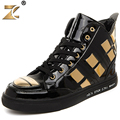 Z 2016 Famous High-vamp Clossy Gold Men Casual Shoes European Style Fashion Retro Outdoor Warm Men Shoes Boots sapatos casuais