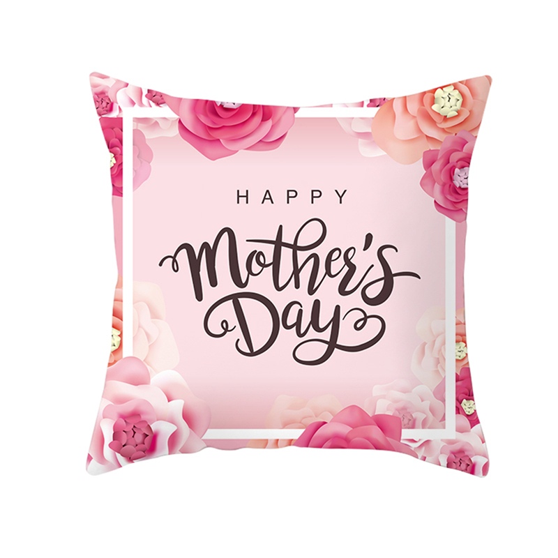 Fuwatacchi Pink Floral Throw PillowCase Cushion Covers Rose Pillow Cover for Sofa Chair Home Decorative Happy Mother 39 s Day in Cushion Cover from Home amp Garden