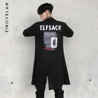 hip hop Shirts Men Cotton Linen Designer Brand Slim Fit Man Letter printing Shirts Long Sleeve black Shirts Men Clothes Spring