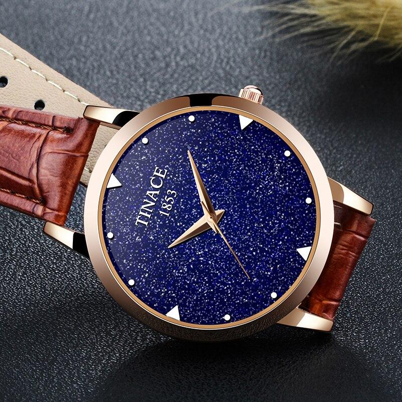 Nova marca de relógio de quartzo senhoras relógio de couro à prova d' água relógio de forma mulher romântica relógio Montre Femme Relogio Faminino - 2