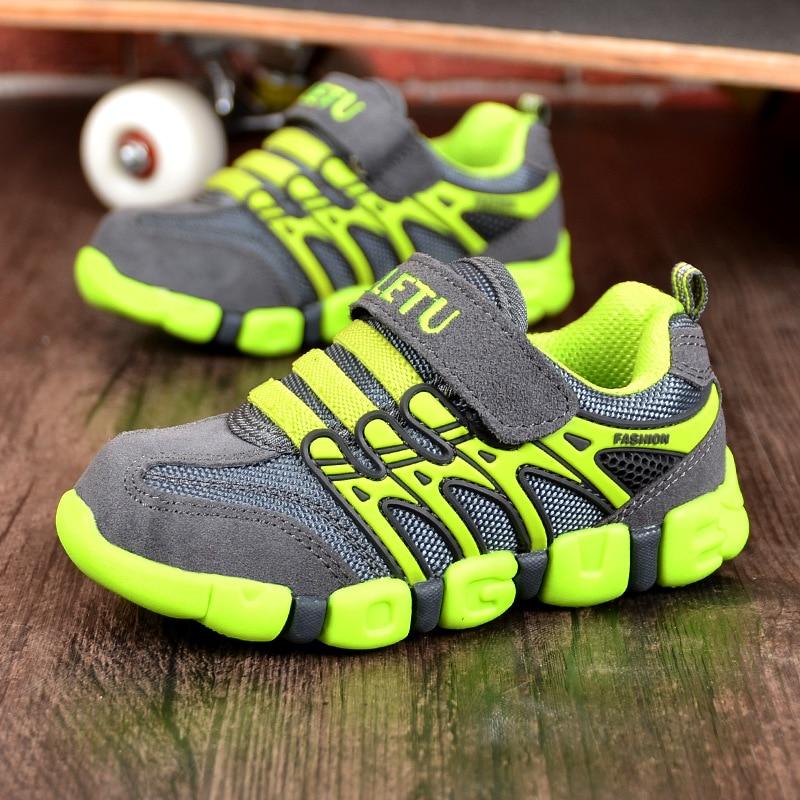 Genuine Leather Kids Sport Shoes Autumn Winter Children Sneaker Boys Trainier Kids Running Shoes For Girl TX91