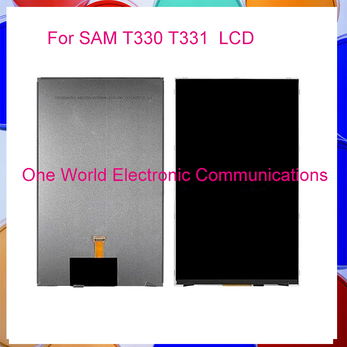 ФОТО 5pcs one world Top quality LCD  DIsplay  For Samsung Galaxy  T331  T330  LCD Display Screen Tracking Number Code free shipping