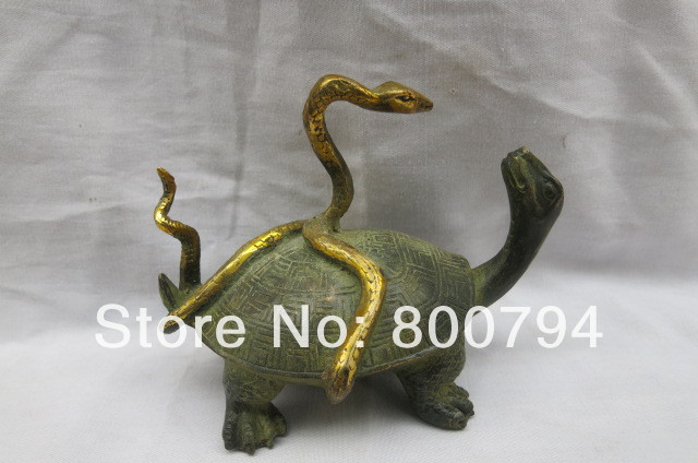 Muy rara dinastía Qing (QianLong1711-1799) Estatua de bronce dorado, - Decoración del hogar