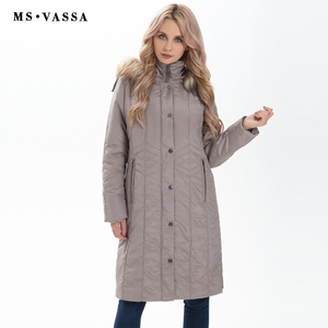 Image 2 - MS VASSA Winter Parkas Women 2019 New Fashion Autumn ladies long jackets detachable hood with fake fur plus size 7XL outerwear
