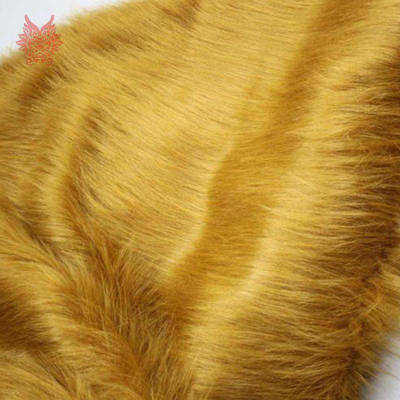 Cao cấp 7 cm tóc dài lạc đà vải lông thú giả cho mùa đông áo khoác, vest, cosplay sân khấu trang trí nội thất miễn phí vận chuyển 150*50 cm 1 mảnh SP2573