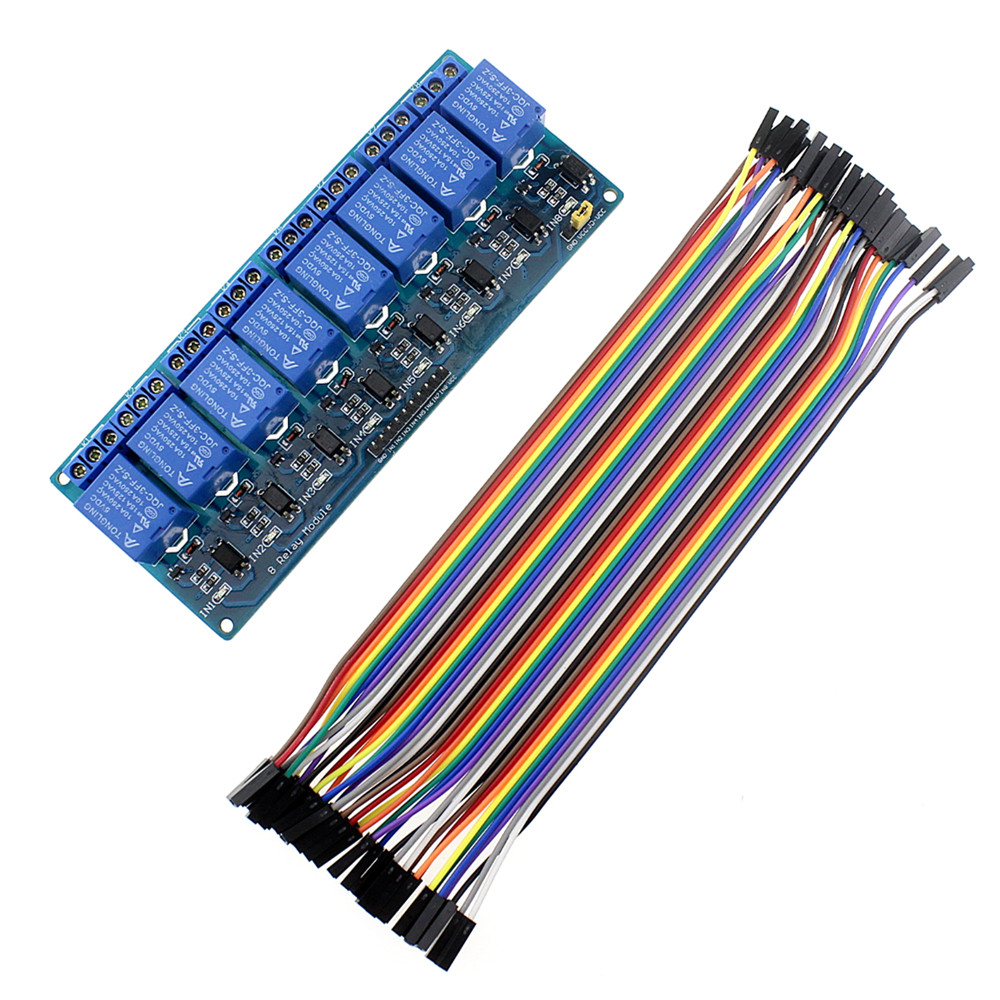 Smart Electronics 8 Channel Relay Module Female Dupont Circuits Webbib Cable Raspberry Pi Dsp Avr Pic Arm For Arduino Diy Kit