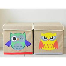 Japanese Cartoon owl storage box-Yellow daily supplies household products health and beauty personal care products(China)