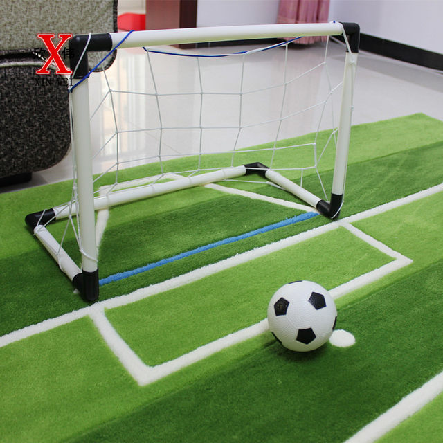 Acrylic Soccer Field For Children Living Room Carpet Tapete Alfombras Tapis Salon Carpets Rugs And Tapetes Rug