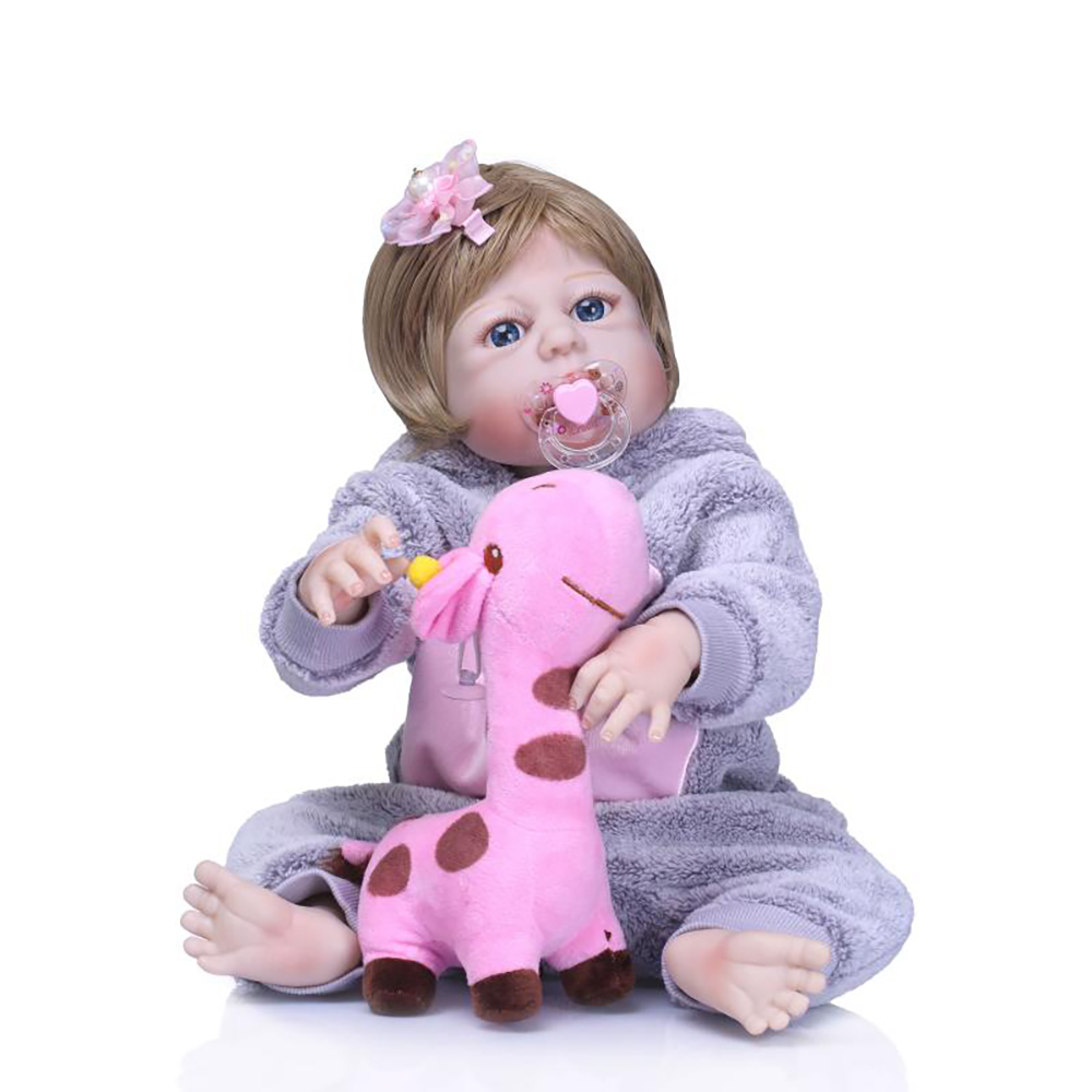 23 Inch Bebe 57 cm Full Body Silicone Reborn Baby Real Dolls Toys Lifelike Girl Doll Child Birthday Gift Bonecas Brinquedos bebe 55cm full body silicone reborn baby girl doll toys lifelike baby reborn doll kids child birthday gift bonecas reborn