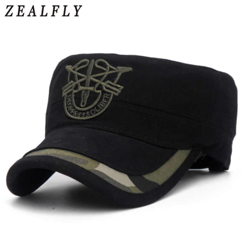 f758db6ea21 Detail Feedback Questions about Men Army Fans Black Cool Military Fans Caps  Cool Men Adult One Size Adjustable Army Cool Flat Top Hat Caps on  Aliexpress.com ...