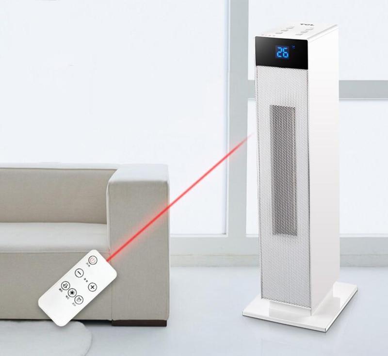 Remote Control Portable Vertical Mute Heater Machine Electric Smart Heater 220V 2000W